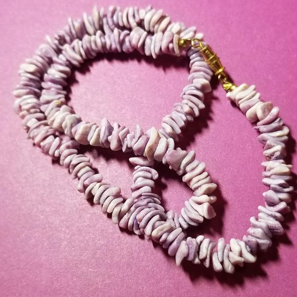 Lavender Shell Choker